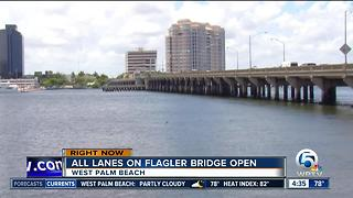 Flagler Memorial Bridge is open in West Palm Beach - Video