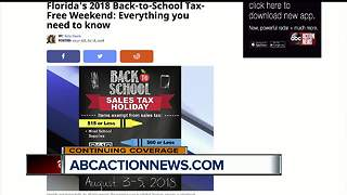 Florida's 2018 Back-to-School Tax-Free Weekend: Everything you need to know - Video