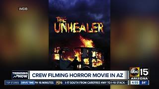 Crew filming horror movie in Arizona - Video