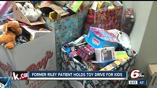 Former patient at Riley Hospital for Children holds toy drive for kids - Video