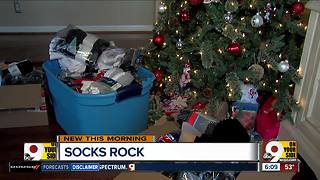 Group gathers socks for people experiencing homelessness - Video