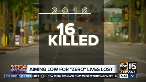 "Aiming low for ""zero"" lives lost in Tempe"