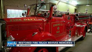 Milwaukee Fire Department's historic Engine 9 restored
