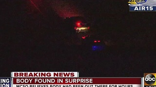 MCSO: Body found in surprise - Video