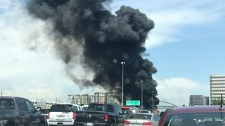 Fuel Tanker Fire Shuts Down Interstate 25 in Denver - Video