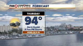 Hot & Humid With Limited Storm Chances 8-30 - Video