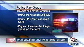 Police departments try desperately to recruit new people to force - Video