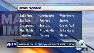 Walmart collecting donations for Puerto Rico - Video