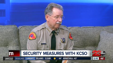 Kern County Sheriff Donny Youngblood talks security on 23ABC Morning show