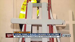 Las Vegas family sending crosses to Florida - Video