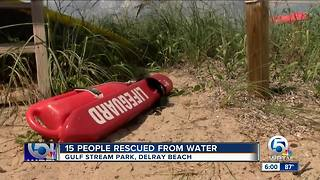 15 people rescued from rip current in Delray Beach