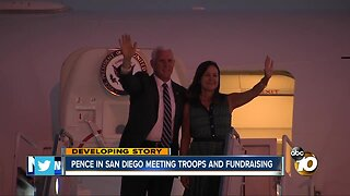 Pence in San Diego meeting troops and fundraising