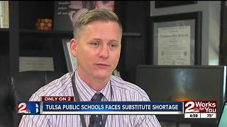 Tulsa Public Schools faces substitute shortage