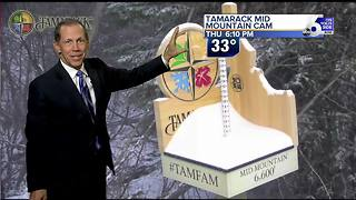Friday Rain in the Valley with Mountain Snow - Video