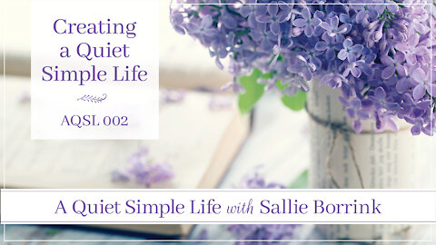 Creating a Quiet Simple Life with Sallie Borrink - A Quiet Simple Life Podcast