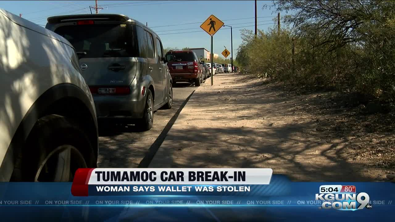 Woman warns Tumamoc hikers after her car is broken into