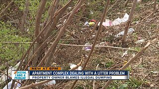 Apartment complex dealing with litter problem
