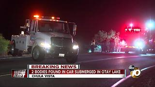 2 bodies found in car submerged in Otay Lake - Video