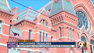 Architectural history rediscovered in Music Hall renovations - Video