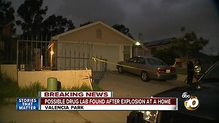 Possible drug lab found after Valencia Park explosion