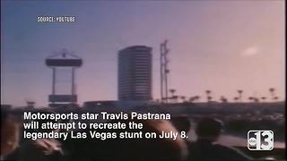 Evel Knievel's jump over Caesars Palace fountains to be attempted by Travis Pastrana - Video
