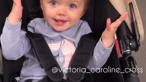 Baby delivers precious reaction to mom's compliments