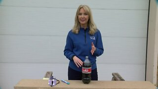 Weather experiment: Creating an eruption volcano