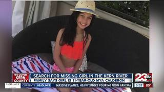 Family identifies 11-year-old girl missing in the Kern River - Video