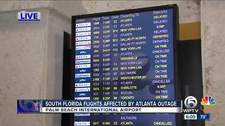 South Florida affected by Atlanta airport power outage - Video