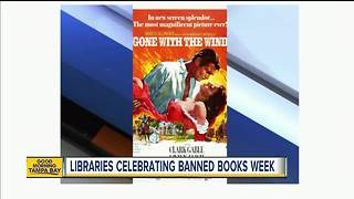 Libraries across America celebrating Banned Books Week - Video