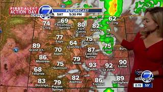 Cooler, with storms likely in Denver on Saturday - Video