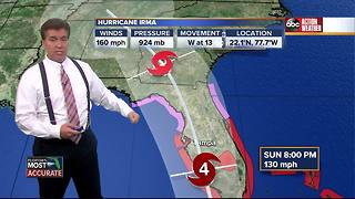 Hurricane Irma Update | Florida's Most Accurate Forecast with Denis Phillips on Friday at 11:59PM - Video