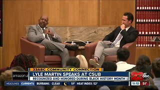 Former Bakersfield Police Chief Lyle Martin speaks at CSUB