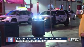 Security guard shot multiple times in Downtown Las Vegas - Video