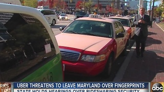 Uber threatens to leave Maryland - Video