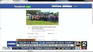 Fallen hero being honored in Cecil County Saturday