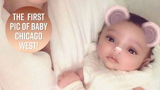 Kim K finally shares first photo of baby Chicago - Video