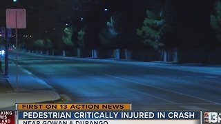Pedestrian struck by car near Durango and Gowan - Video