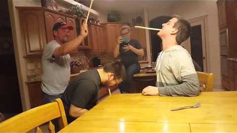 Dude gets pranked during wooden spoon game