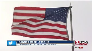 Elementary school janitor helps students learn respect for American flag