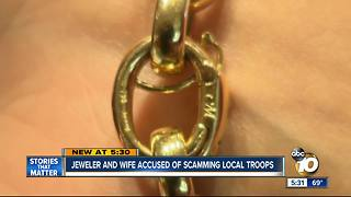 North County jewelers accused of ripping off troops - Video