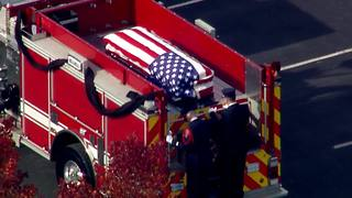 Funeral procession for fallen Greenfield firefighter Scott Compton - Video