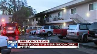 Fire damages Lakeside apartments - Video