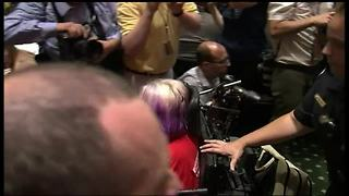 Disabled protester removed from Graham-Cassidy heath care meeting - Video