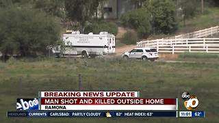 Man shot and killed outside home - Video