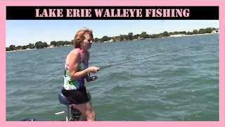 Lake Erie Walleye Fishing With The Mrs.