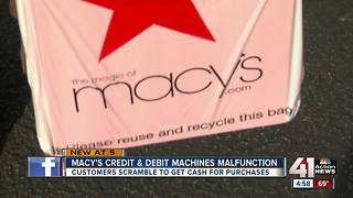 Macy's experiences Black Friday computer glitches, customers forced to use cash - Video