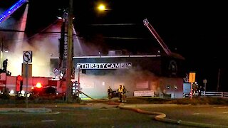 The Thirsty Camel Norfolk on fire