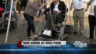 New handicap-accessible swing installed at Reid Park