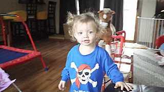 Toddler Totally Miscalculates Toy's Ability to Carry Her Weight - Video